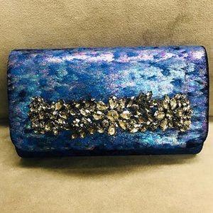 Iridescent Blue with Jeweled Slip Thru BraceletNWT
